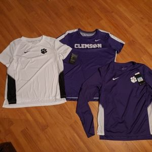 Women's Nike Dry-Fit Clemson shirts size medium